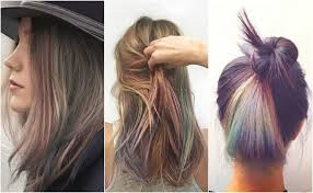 Subtle Blue Highlights Pull Off Rainbow Hair With These Subtle Rainbow Highlights