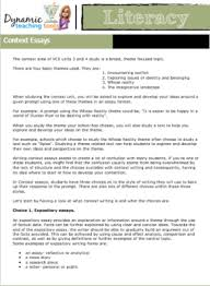 literacy dynamic teaching context essays