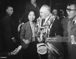 Ludwig Guttmann is seen on arrival at Haneda Airport ahead of the... Foto  di attualità - Getty Images
