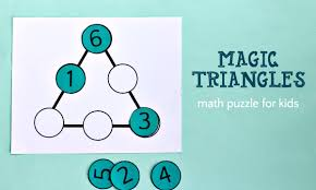 magic triangle math puzzle and solution