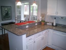 White Kitchen Granite Countertops White Kitchen Cabinets New Caledonia Granite Countertop Subway