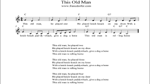 this old man piano sheet music this old man instrumental youtube
