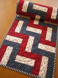 25+ unique Quilted table runners ideas on Pinterest | Xmas table ... & Quilted Table Runner Patriotic Red and Blue Stars by patchworkmountain.com Adamdwight.com