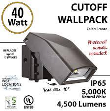 40w led wall pack fixture 4500lm 5000k ip65 ul w photocell 40w cut off led wall pack lighting photocell 250 watt hid mh eq