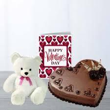 heart cake teddy card new year mysore ambala