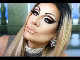 cut crease smokey eye drag makeup tutorial