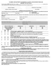 dmv vision test form fill out and