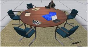 Circular office desks Cluster Office Zoomview Images 14 Ct8 Ct9 Ct1 Ct2 Circular Desk Office Neginegolestan Second Life Marketplace Circular Desk Office Desk Meeting Room
