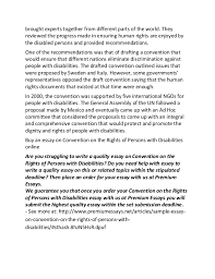 sample essay on convention on the rights of persons disabilities 2 brought