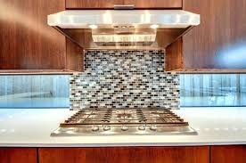 glass mosaic tile countertop a unique kitchen with glossy white and behind the range ideas for metal etc