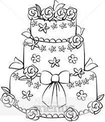wedding cake clipart black and white.  Cake For Wedding Cake Clipart Black And White C