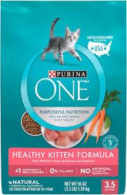 Purina One Healthy Kitten Formula Dry Cat Food 3 5 Lb Bag