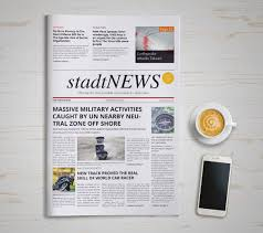 Newspaper Front Template 9 Newspaper Front Page Template Free Word Ppt Eps