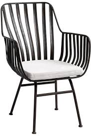 black metal outdoor furniture.  Outdoor A Distressed Metal Armchair With An Industrial Vibe Made In Denmark  Includes Cushion Intended Black Metal Outdoor Furniture