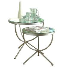 round glass nesting tables image is loading monarch 2 piece round nesting tables in satin black