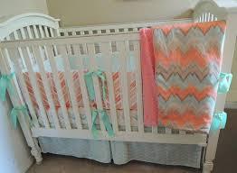 c and mint crib bedding c mint chevron baby bedding set c mint and gray crib