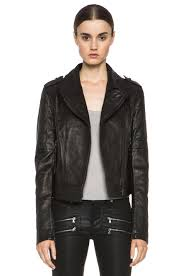 image 1 of paige sacha leather jacket in black
