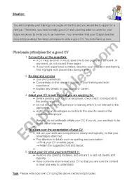 How To Write A Good Cv How To Write A Cv Esl Worksheet By Sina019