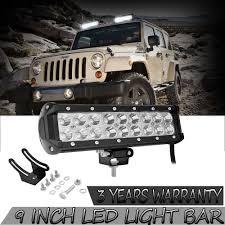 Off Road Flood Lights Details About 9inch Led Light Bar Spot Flood Combo Kit Offroad Fog Lights Atv Suv Work Lamp