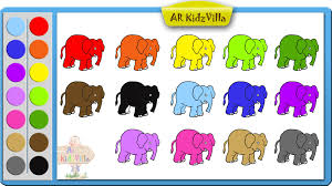 elephant color.  Elephant Learn Colors For Kids And Color Elephant Coloring Page  Pt 6 On P