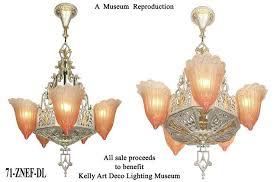 art deco reproduction lighting. vintage reproduction fleur de lis art deco lighting nouveau chandelier