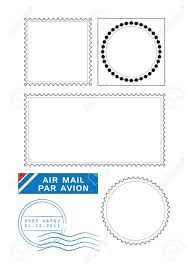 Stamps Template Postal Stamps Template Vector