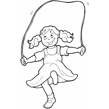 Disegno Di Bambina Che Gioca Con Corda Da Colorare Per Bambini