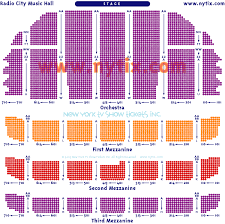 Radio City Christmas Show Seating Chart Radio City New York Radio City Music Hall Seating Charts