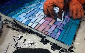 how to grout mosaic art