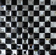 crystal glass tile black and white vitreous mosaic wall tiles kl923