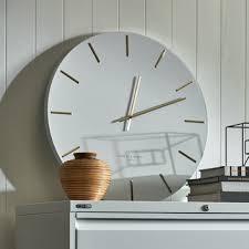 white luca silent wall clock