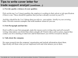 4 tips to write cover letter for trade support cover letter for it support