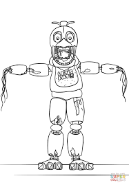 Fnaf Withered Chica Coloring Page Free Printable Coloring Pages
