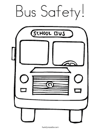 Small Picture Bus Safety Coloring Page Twisty Noodle