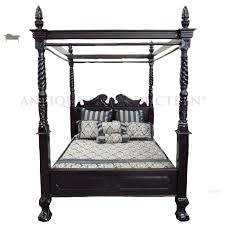 white four poster bed queen. Plain Four Chippendalefourposterbeddarkmahogany For White Four Poster Bed Queen