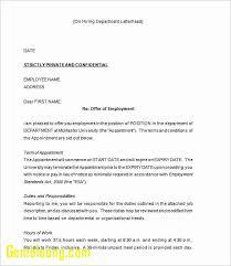 Simple Offer Letter Template Fresh Simple Fer Letter Format