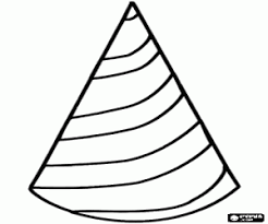 Carnival Cone Shaped Hat Coloring Page Printable Game