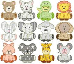 Animal Applique Designs Cute Animals Applique Machine Embroidery Designs Machine