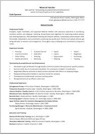 Awesome Material Management Resume Sample Images - Simple resume .