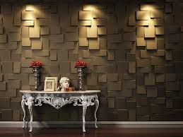 ... 3D wall panels are a dramatic feature