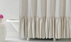 fantastic linen shower curtains and gabriella 72x72 ruffle bottom fabric shower curtain groupon