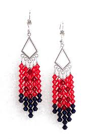 03 04 8651 geoffrey s red navy crystal chandelier earrings