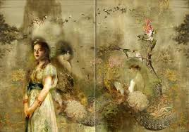 though iva troj s paintings share the sensibility and feminine grace present in renaissance era art her work is informed by her modern point of view