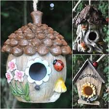 image is loading decorative hanging garden wild bird house nest box