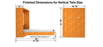 standard wall beds. amazoncom twin size easy diy murphy wall bed hardware kit vertical mount kitchen u0026 dining standard beds a