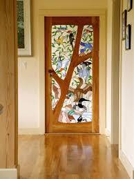 stain glass doors custom made stained glass door birds victorian stained glass exterior door