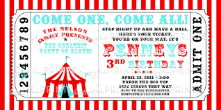 Circus Ticket Template Free Carnival Themed Invitations Templates