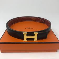 Hermes Belt Size Conversion Chart Hermes Black And Gold Constance Reversible Size 60 Belt