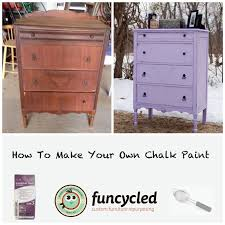 chalk paint furniture before and afterHow To Make Your Own Chalk Paint  FunCycled