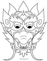 Maskoloring Pages Free Blank Masks Dragonraftshinese New Masquerade